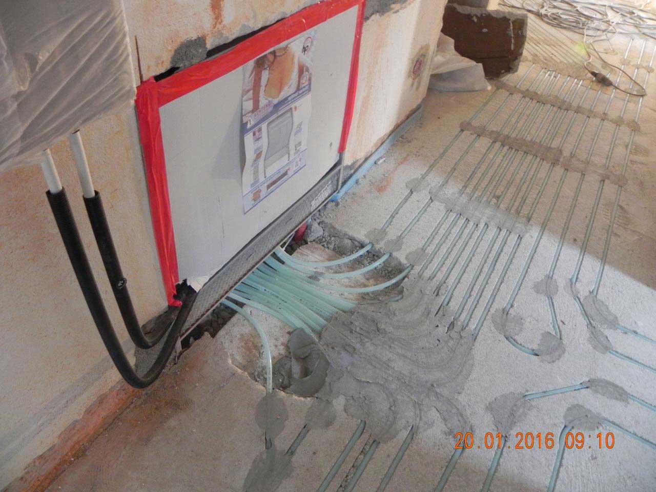 Fußbodenheizung - Verteiler
