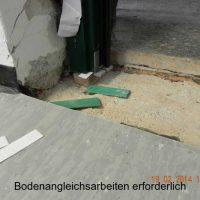 Türmontage - Bodenangleichungsarbeiten erforderlich